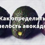 Как определить спелость авокадо?