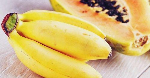 Банан и папайя - фрукты от запора